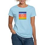 374.rainbow mandala Women's Pink T-Shirt