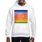 374.rainbow mandala Hooded Sweatshirt