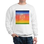374.rainbow mandala Sweatshirt