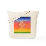 374.rainbow mandala Tote Bag