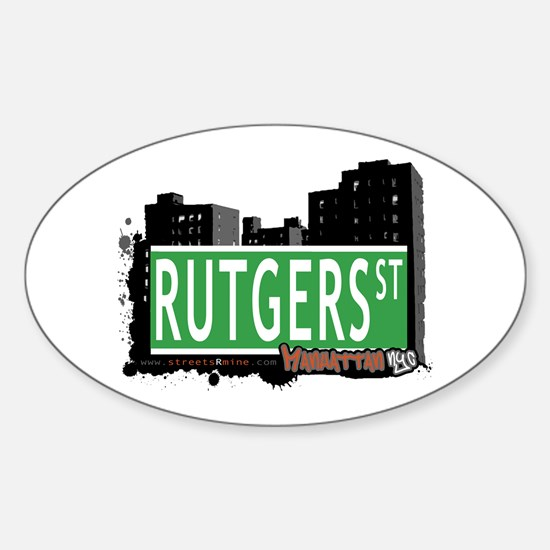 RUTGERS STREET, MANHATTAN, NYC Oval Decal