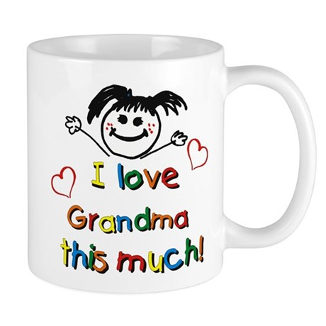 I Love Grandma (girl) Mug