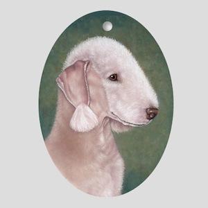 Bedlington (Liver) Oval Ornament