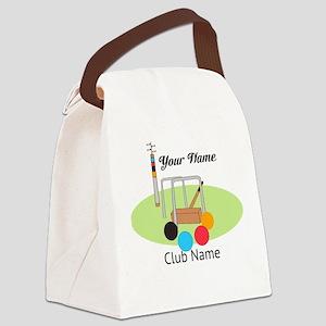 Croquet Club Player Team Canvas Lunch Bag