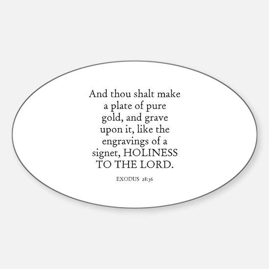 EXODUS 28:36 Oval Decal