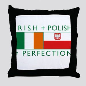 Irish Polish flags Throw Pillow