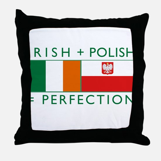 Irish Polish flags Throw Pillow