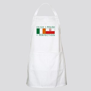 Irish Polish flags BBQ Apron