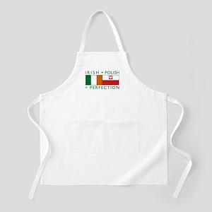 Irish Polish flags BBQ Apron