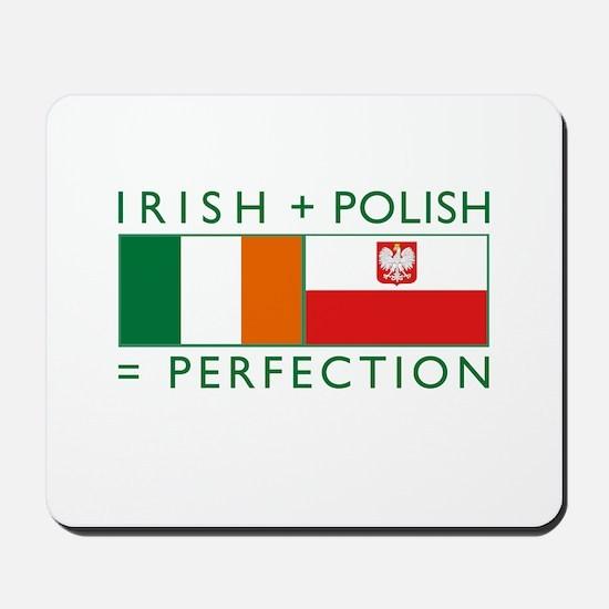 Irish Polish flags Mousepad