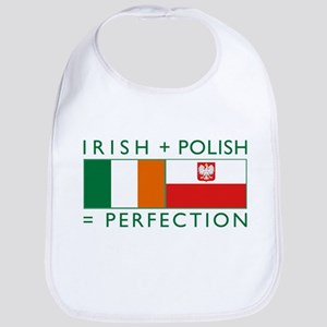 Irish Polish flags Bib