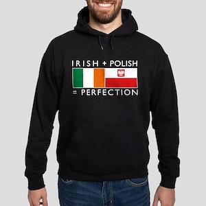 Irish Polish flags Hoodie (dark)