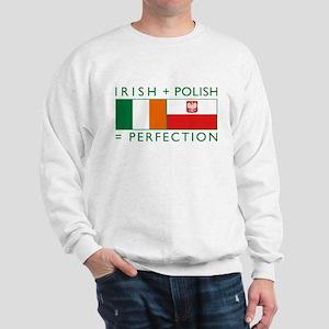 Irish Polish flags Sweatshirt