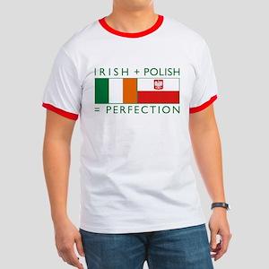 Irish Polish flags Ringer T