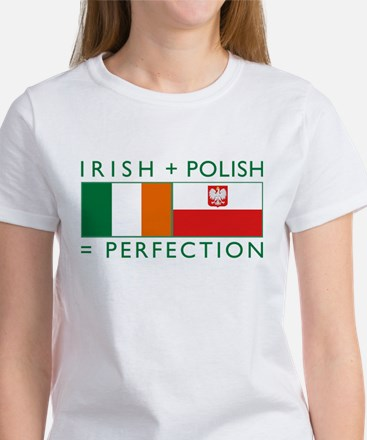 Irish Polish flags Women's T-Shirt