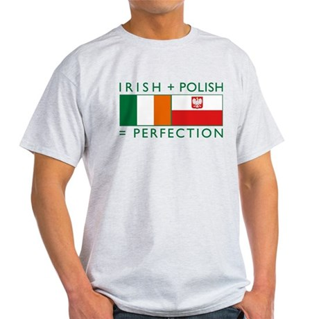 Irish Polish flags Light T-Shirt