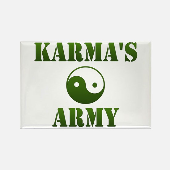 Karma's Army Rectangle Magnet