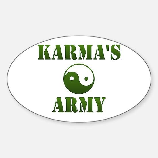 Karma's Army Oval Decal