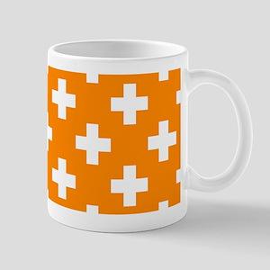 Orange Plus Sign Pattern Mug