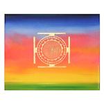 374.rainbow mandala Small Poster