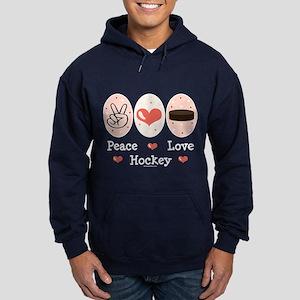 Peace Love Hockey Hoodie (dark)