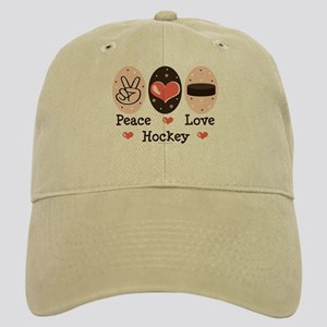 Peace Love Hockey Cap