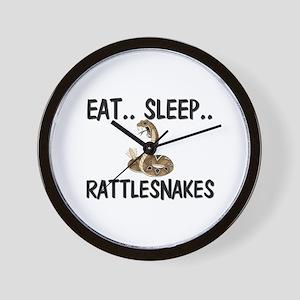 Eat ... Sleep ... RATTLESNAKES Wall Clock