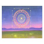 370.heart fire mandala Small Poster