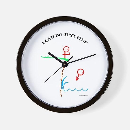 Just Fine! Wall Clock