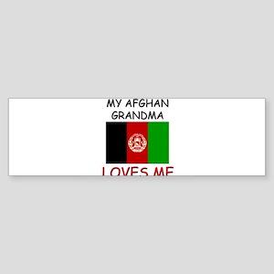My Afghan Grandma Loves Me Bumper Sticker