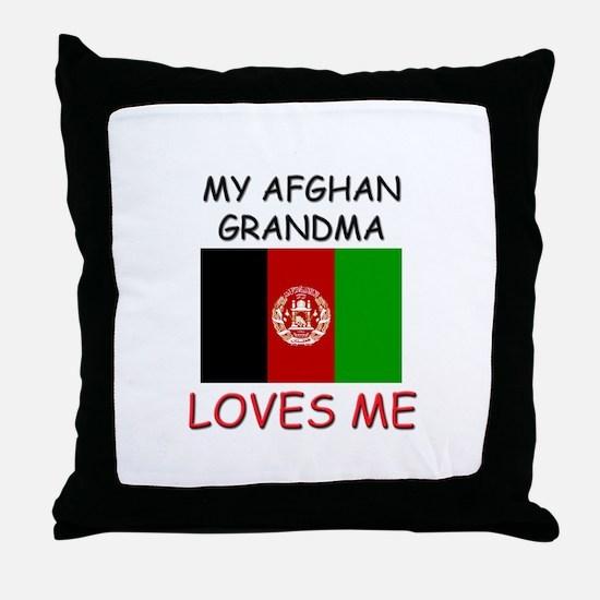 My Afghan Grandma Loves Me Throw Pillow