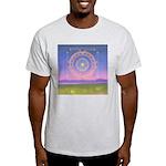 370.heart fire mandala Ash Grey T-Shirt