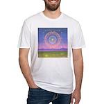 370.heart fire mandala Fitted T-Shirt