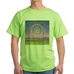 370.heart fire mandala Green T-Shirt