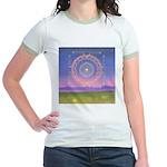 370.heart fire mandala Jr. Ringer T-Shirt