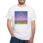 370.heart fire mandala White T-Shirt