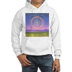 370.heart fire mandala Hooded Sweatshirt