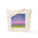 370.heart fire mandala Tote Bag