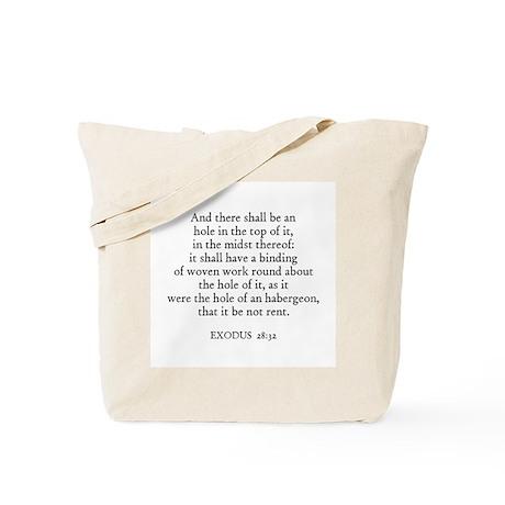 EXODUS 28:32 Tote Bag