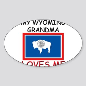 My Wyoming Grandma Loves Me Oval Sticker