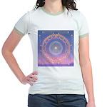 370a.heart fire mandala Jr. Ringer T-Shirt