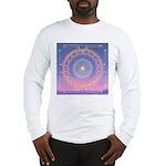 370a.heart fire mandala Long Sleeve T-Shirt