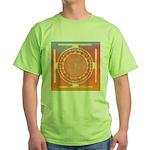 374.rainbow mandala Green T-Shirt