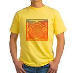 374.rainbow mandala Yellow T-Shirt