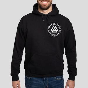 Triple Triangle Rune Shield Hoodie (dark)