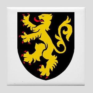 Belgium: Heraldic Tile Coaster, design 2