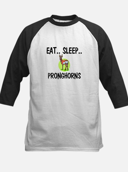 Eat ... Sleep ... PRONGHORNS Kids Baseball Jersey