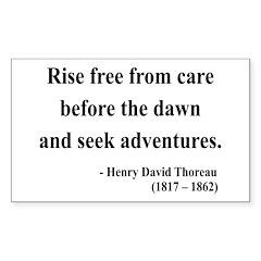 Henry David Thoreau 33 Rectangle Decal