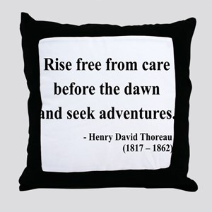 Henry David Thoreau 33 Throw Pillow