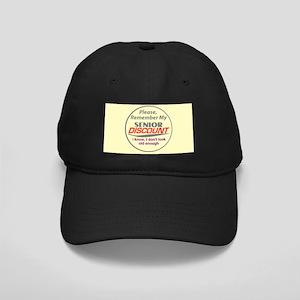 Senior Discount Black Cap
